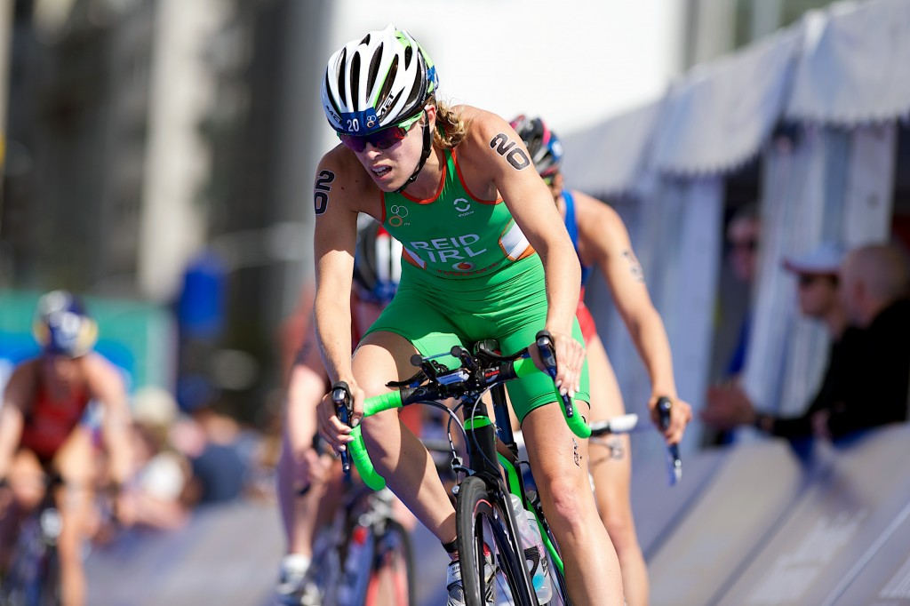 ITU World Triathlon Series, Auckland, New Zealand 29/3/2015 Ireland's Aileen Reid during the bike leg of the Women's Elite race Mandatory Credit ©INPHO/Photosport/Darryl Carey