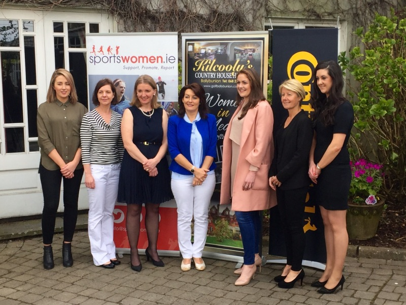 Emily Glen (Fair Game Podcast), Cliona O'Leary (Deputy Head of RTE TV Sport), Sharon Hutchinson (sportswomen.ie), Joan O'Connor (Kilcooly's Country House Hotel), Fiona Coghlan (Former Irish Rugby Captain), Sue Ronan (Irish WNT Soccer Manager), Anne McCarthy (Sport Ireland)