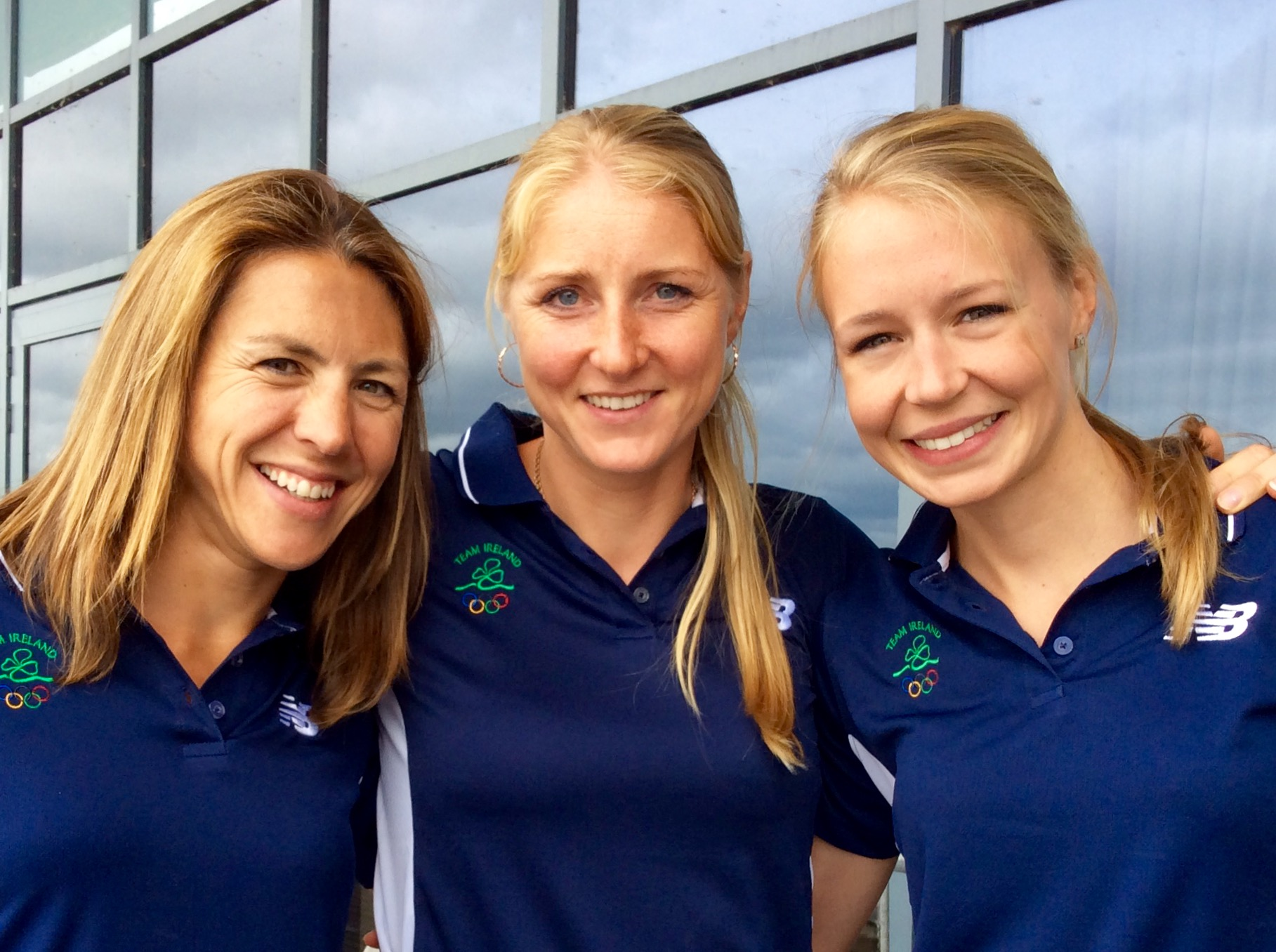 Sinead Jennings, Sanita Puspure, Claire Lambe at the National Rowing Centre, Farran, Cork