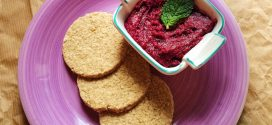 Beetroot & Mint Dip with Homemade Oatcakes